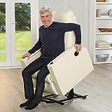 aktivshop Fernsehsessel - Relaxsessel - Komfortsessel mit Aufstehhilfe, Wärmefunktion & Massage || ausklappbarer Seitentisch || inkl. Seitenfach (Creme) - 2