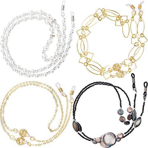 Zhanmai 8 Stücke Brillenketten für Damen Sonnenbrillen Strap Lesebrille Cords Lanyards Eyewear Retainer