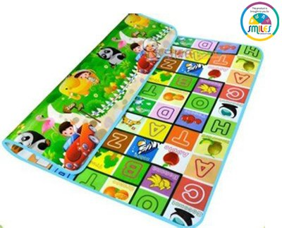 Smiles Creation Soft And Sturdy Imported Full Size Anti Skid Play Crawling Mat For Infant