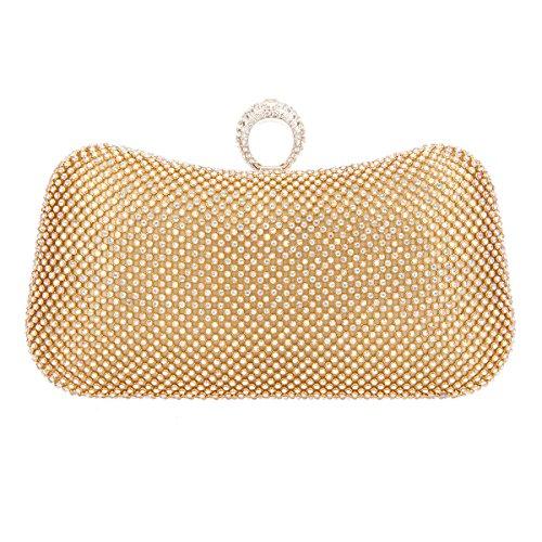 1deb00c57 Bonjanvye UK51226 - Cartera de mano de Material Sintético para mujer S,  color Dorado,