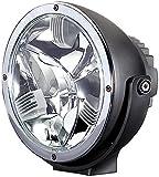 HELLA Luminator LED, LED Fernscheinwerfer, inkl. LED-Positionslicht, stehender Anbau mattschwarzes Aluminiumdruckgussgehäuse und Halter, verchromter Glashalterahmen, ECE Ref. 40, 1F8 011 002-001