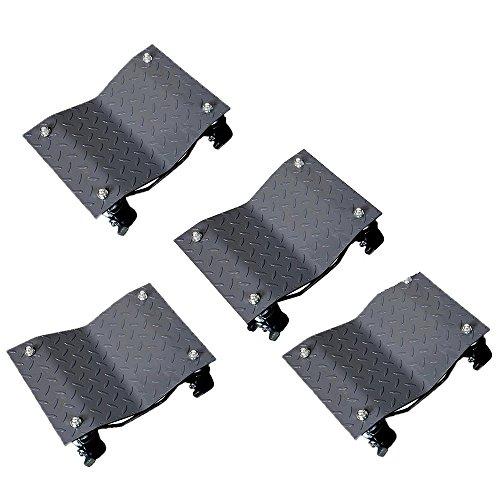 4PCS-30,5cm Reifen Premium Skates Rad Auto Dolly Kugellager macht ein Auto einfach, schwarz -