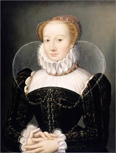 Poster 30 x 40 cm: Portrait of a Lady von Francois Clouet / Bridgeman Images - hochwertiger Kunstdruck, neues (Elisabethanischen Kostümen)