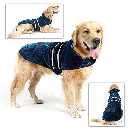 Poppypet Hundemantel, Winterjacke Hundebekleidung Herbst Weste Hundejacke Wintermantel Der modische Mantel ist perfekt fuer kalte Winter (Achten Sie bitte auf die Groesse) Blau L