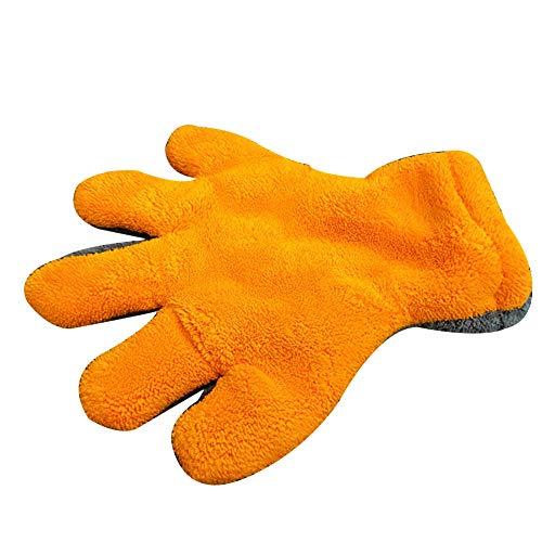 longyitrade Weiche Zubehörartikel für die Pflege des Autos auf Entrambi die Seiten aus Samt Corallo, Reinigung der Handschuhe Arancio + Grey
