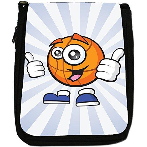 sporticons Happy palloni sportivi Media Nero Borsa In Tela, taglia M Sporticon Happy Basketball
