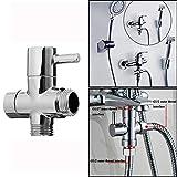 Luxury-uk Decorazione semplice Valvola d'arresto dell'acqua, deviatore della doccia G1 / 2 Valvola d'angolo del bagno per la testa dell'acquazzone Separatore dell'acqua Valvola dell'interruttore della