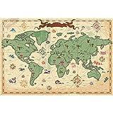 YongFoto 1,5x1m Vinile Fondale Foto Mappa del mondo antico Mappa del viaggio Sfondo fotografico Fotografia Sfondi per foto Partito Studio Puntelli 5x3ft
