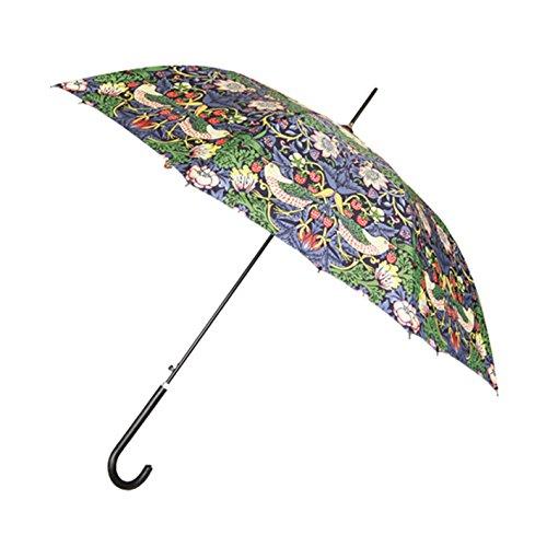 Signare Mode Stockschirm Regenschirm stil modell Erdbeerdieb Blau fur damen