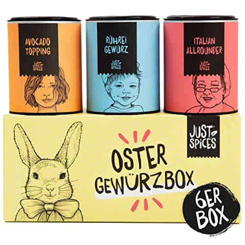 Just Spices Oster Gewürzbox | 6 der besten Gewürze in einer Geschenkbox | Perfektes Ostergeschenk für Männer und Frauen in Geschenkbox