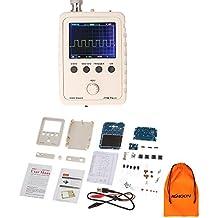 Osciloscopio de 2,4 pulgadas Kit DIY TFT 1MSA/S 0–200KHz, portátil de mano, piezas con carcasa completa SMD. Conjunto de aprendizaje electrónico