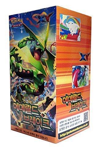 Pokemon Booster Xy Box (POKEMON CARD XY Emerald brake Booster Box / Korean Ver / 30 Booster Pack by pokemon card)