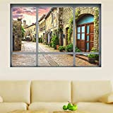 Adesivo da parete Finestra 3D Visualizza Adesivi Murali Adesivi Murali Paesaggio Piccoli Adesivi Porta Decorazione Divano Sfondo