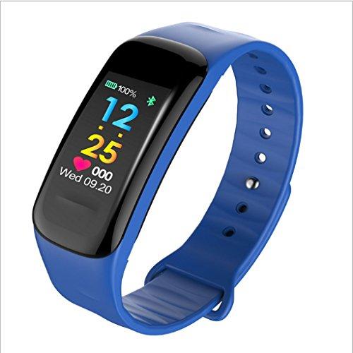 MinMin Smart Watch - Sport Armband Smart Armband Bluetooth wasserdichte elektronische Uhr Armband Puls Blutdruck Monitor Gesundheit Sport Schrittzähler Uhr Intelligentes Armband für Sportuhren