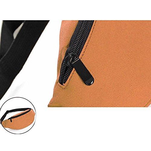 Wander-Hüfttaschen Wasserdicht Bauchtasche Jogging Tasche Gürteltasche mit Reissverschluss in 10 Farben By Sijueam Orange