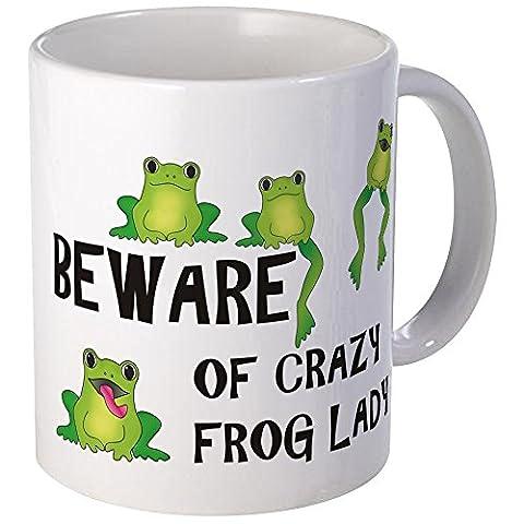 CafePress - Beware Of Crazy Frog Lady - Unique Coffee Mug, Coffee Cup, Tea Cup