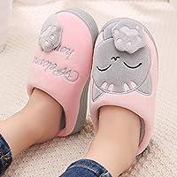 ZHESHIAI Winter Boy Girl Slippers Warm Cute Indoor Non-Slip Cartoon Candy Color Cat Home Slippers Zapatillas Bebe