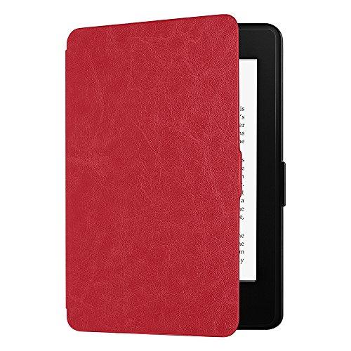 EasyAcc Hülle für Kindle Paperwhite, Ultra Dünn Schutzhülle Mit Sleep/Wake up Funktion Kompatibel mit Kindle Paperwhite für Vorgängermodelle von 2012, 2013 und 2015 - Rot