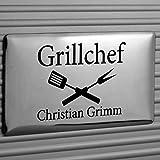 Grillkoffer BBQ Koffer Grillbesteck 3-teilig mit Ihrer individuellen Gravur -