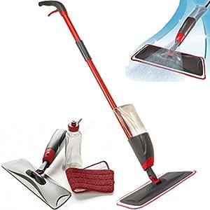 kit balai spray mop pour sol avec chiffon en microfibre et bac de nettoyage cuisine. Black Bedroom Furniture Sets. Home Design Ideas
