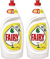 Fairy Lemon Dish Washing Liquid Soap, 1 Litre (Pack of 2)