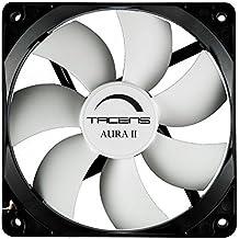 Tacens 3AURAII - Ventilador para ordenador (8cm, 12dB, 1500 RPM, Tecnología Fluxus II, sistema antipolvo, duraciónde 60.000h) color negro