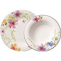Villeroy & Boch Mariefleur Basic Service de table pour 4 personnes, 8 pièces, Porcelaine Premium, Blanc/Multicolore