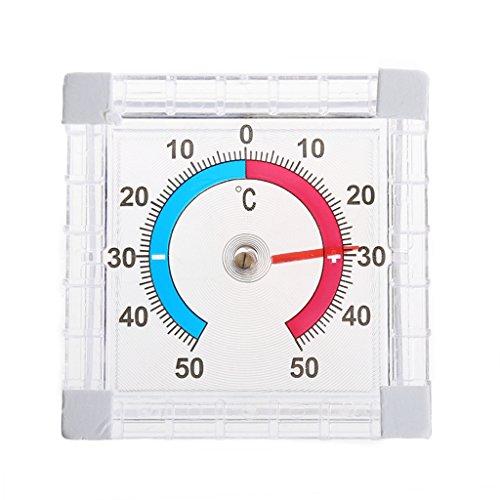 Jiamins Thermomètre Auto-adhésif pour fenêtre Thermomètre intérieur extérieur
