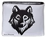 Shagwear - Monederos para mujeres jóvenes: Varios colores y diseños: (Lobo temperamental gris...