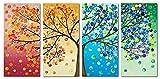 XXL Kreuzstich Stickpackung Stickbild Stickvorlage vorgedruckt Baum 4 Farben