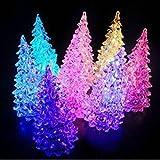 HuaYang Pretty Christmas Tree Ice Crystal Color Changing LED Desk Decor/Table Lamp Light