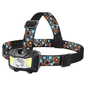 GRDE Stirnlampe Kopflampe Super Helle 5000 LUX LED Headlights Stirnleuchte 4 Modi 3X Birnen Fahrrad Lampen Taschenlampe f¨¹r Camping Wanderung Jagd Laufen