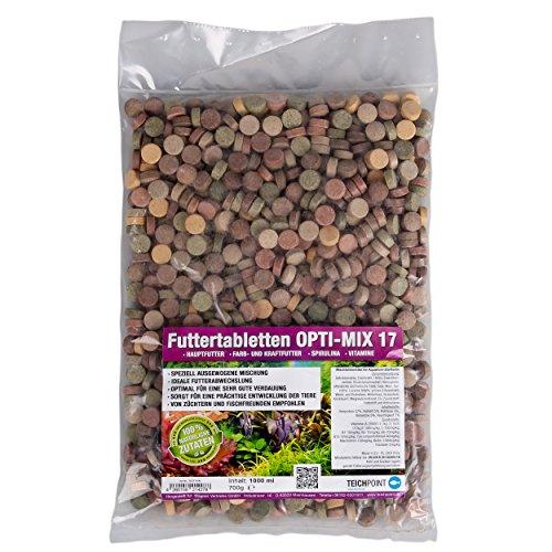 Teichpoint 1000 ml (700g) Premium TOP Futtertabletten Opti-Mix 17, Tablettenfutter Mix für Aquarium Zierfische Tabletten - 4