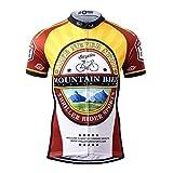 Thriller Rider Sports® Uomo Mountain Bike Club Sport e Tempo Libero Abbigliamento Ciclismo Magliette Manica Corta Medium