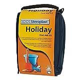 Steroplast Erste Hilfe Set Ferien - Für die Verwendung im Urlaub - Besonders praktisch für Kinder - Mit sterilen Produkten aus hochwertigem & hautfreundlichem Material - Inkl. Desinfektionstücher, Pflaster, Tapeverband, Waschlösung & puderfreie Handschuhe