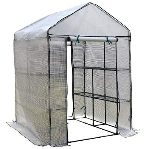Miniserre serra da giardino balcone mini serra portatile per l'inverno, scaffali per piante da interno indoor capottina pomodoro walk-in garden green house (dimensioni : 280×140×195cm)