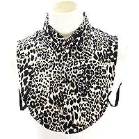 GROOMY Moda Falso Cuello de Las Mujeres de impresión de Leopardo de imitación de Cuello Desmontable Collar de la Solapa de la Blusa de Las señoras Ajustar Accesorios de Ropa