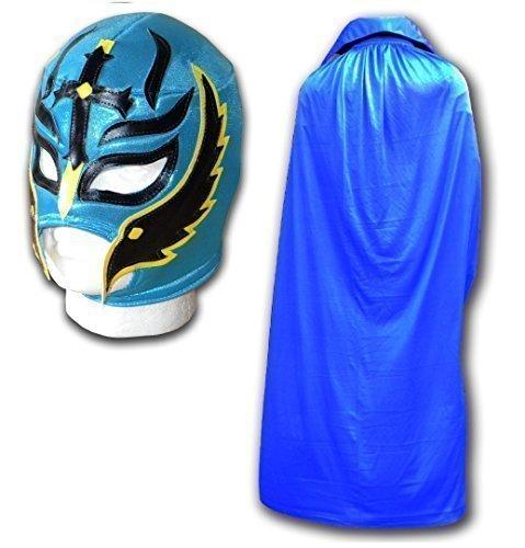 Sohn der Teufel Erwachsene Luchador Mexikanisch Wrestling-Maske Türkis & Blau Cape - Mexikanische Wrestling-cape