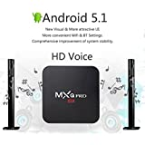 Zenoplige MXQ PRO Android 5.1 Amlogic S905 Quad Core Smart TV Box con Kodi & XBMC Preinstalado 1G RAM 8G ROM 4K Wifi Streaming Media Player