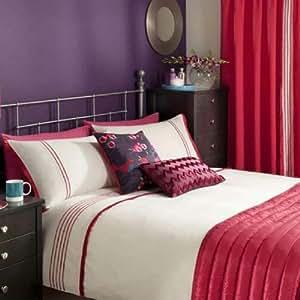 Housse de coussin raffinée - volants plissés - rose vif - 30 x 50 cm