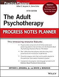 The Adult Psychotherapy Progress Notes Planner (PracticePlanners) by Arthur E. Jongsma Jr. (2014-04-08)