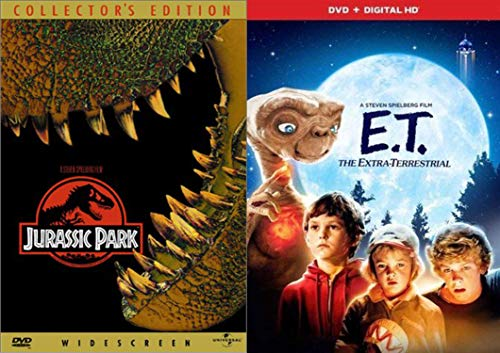 The Kid in All of Us Classic Sci-Fi Steven Spielberg - E. T. The Extra Terrestrial (DVD & Digital HD) & Jurassic Park (Collector's Edition) 2-DVD Bundle