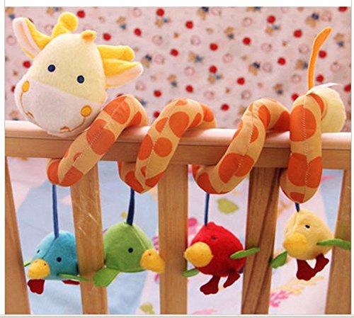 Baby Kleinkindspielzeug,Beschwichtigen Schlaf Spielzeug,Kinderwagen Lalang Wei/ß Kaninchen Pl/üschtiere Spielzeug der Spielzeugauto-Drehmaschine h/ängende