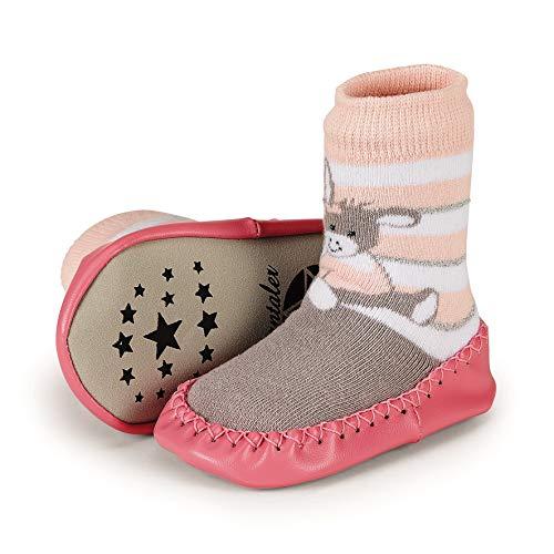 Sterntaler Baby Mädchen Hüttenschuh Emmi Girl Hausschuhe, Pink (Zartrosa 707), 22 EU