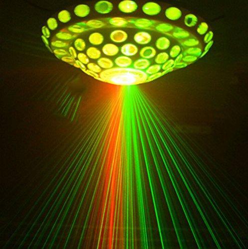 Discokugel LED Party Lampe Beleuchtung 5 Farben DJ Licht Disco Party Lichter Musik und Stimme Steuerung Bühnenbeleuchtung Effektlicht für Weihnachten Party Deko Club Bar Geburtstag Urlaub Dekoration