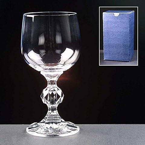 Claudia cristallo 5oz Porpora 150ml, in vetro, personalizzabile con incisione