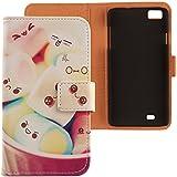Lankashi PU Flip Funda De Carcasa Cuero Case Cover Piel Para ZOPO C2 ZP980 ZP980+ Lovely Design