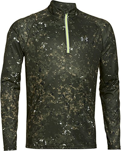 under-armour-herren-running-shirt-langarm-promise-land-1-4-zip-rough-green-m