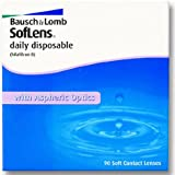 Bausch & Lomb SofLens daily disposable Tageslinsen weich, 90 Stück / BC 8.60 mm / DIA 14.20 mm / -02.50 Dioptrien