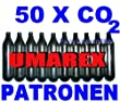 50 x 12g capsules de CO2 pour airsoft , paintball, pistolets à air ou carabines à air comprimé